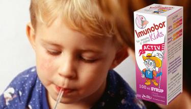 При първи симптоми на инфекции в детската възраст, изберете Imunobor Kids Activ Syrup